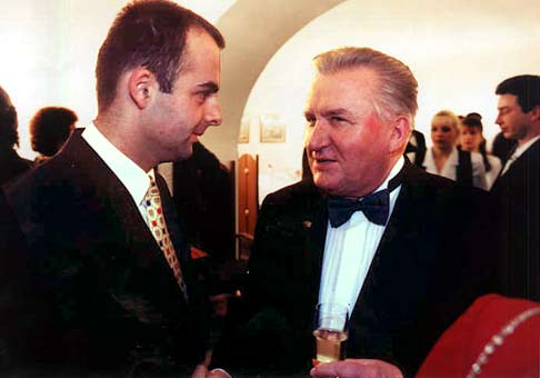V primaciálnom paláci s Michalom Kováčom.