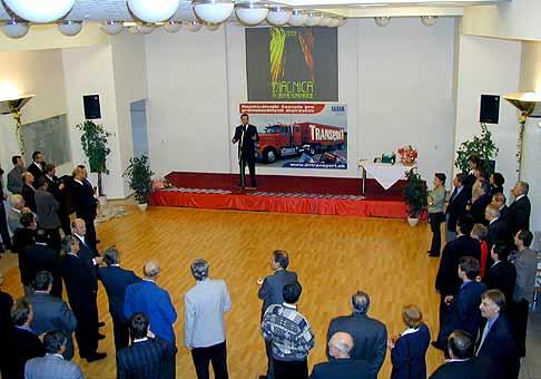 Slávnostná recepcia počas výstavy Dialnica a cestné komunikácie 2002
