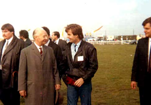 S Alexandrom Dubčekom pred návštevou pápeža v roku 1990.