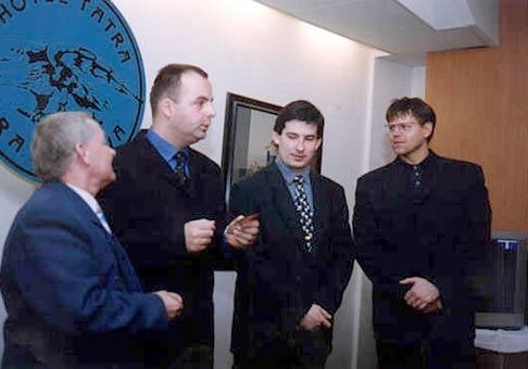 Zľava: Jozef Nodžák (majster N), ja, Patrik Herman, Dano Junas.
