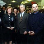 S ministerkou financií, bývalým americkým veľvyslancom Ralphom Johnsonom a jeho manželkou.