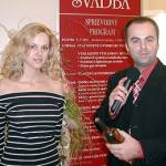 Slávnostné otvorenie výstavy Svadba vo Výstavisku Bratislava so speváčkou Kristínou Prekopovou.