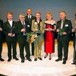 Slávnostné odovzdávanie cien Zlatý Dukát v budove LATERNY MAGIKY v Prahe so Šárkou Koubelkovou z televízie Nova