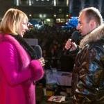 Moderovanie na Vianočných trhoch na Hlavnom námesti bolo veľmi príjemné. 5.decembra, 2012 . Bratislava.