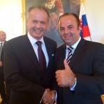 Slávnostná recepcia na bratislavskom hrade. S panom prezidentom Andrejom Kiskom. 15.júna.2014.Bratislava.