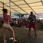 50.ročník festivalu Cervenik - sutaž v pool dance. 8.august.2015. Červeník.