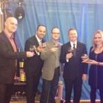10. narodeniny spoločnosti AGORA plus prišli osláviť v hoteli Bôrik aj zástupcovia Nokia, Samsung a HTC. 30.november, 2012. Bratislava.