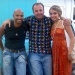 Fredy Ayisi a jeho dcéra Vierka posledný deviaty deň na národnom pivnom festivale na Inchebe. 22.6.2008