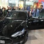12.ročnik Miniautosalon v Avion shoping park, prezentacia elektrickeho auta Tesla. 4.oktober.2015.Bratislava.