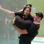 Na majstrovstvách slovenska v squashi vystúpila aj prvá hadia žena Zuzka.