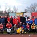 Sverovy tyzden Glaukomu, poskodenia zrakoveho nervu. Atleticky stadion Dukla BB Stiavnicky. 15.marec 2017 Banska Bystrica.