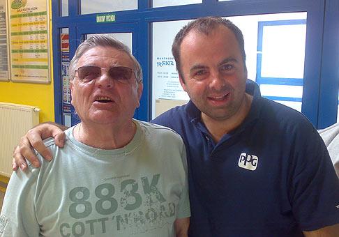 So Stanom Dančiakom vo fitnescentre www.starfit.sk. 16.4.2009 Bratislava.