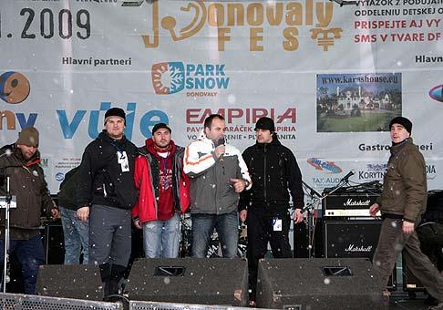 Donovalyfest 2009. So skupinou Amphibios. 31.1.2009 Donovaly.