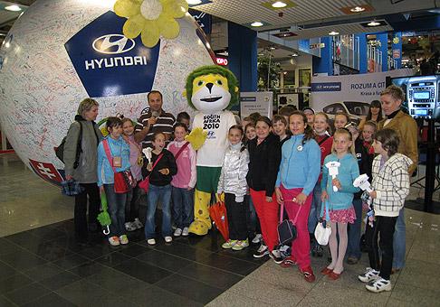 Hyundai tour 2010 v zábavno - obchodnom centre MAX v Žiline. 15.5.2010 Žilina.