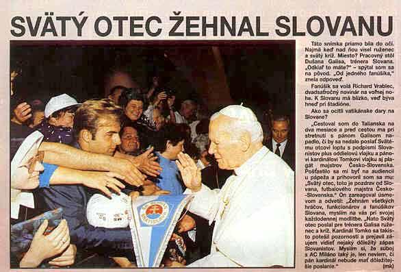 Svätý otec žehnal Slovanu.