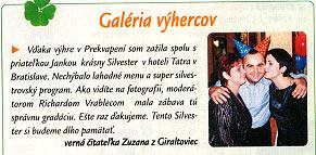 Prekvapenie, február 2002: Galéria výhercov - Silvester 2001