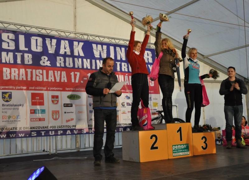 Vyhlasovanie výsledkov najväčšieho zimneho MTB maratonu na Slovensku. 18.januar.2015.Bratislava.
