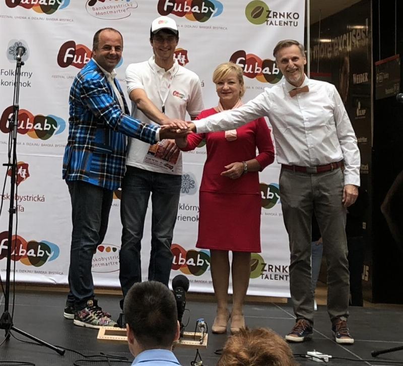 Slavnostne otvorenie 7.rocnika multizanroveho festivalu FUBABY s pani ministerkou kultury Lubicou Laššakovou. 18.jun 2018 Banska Bystrica