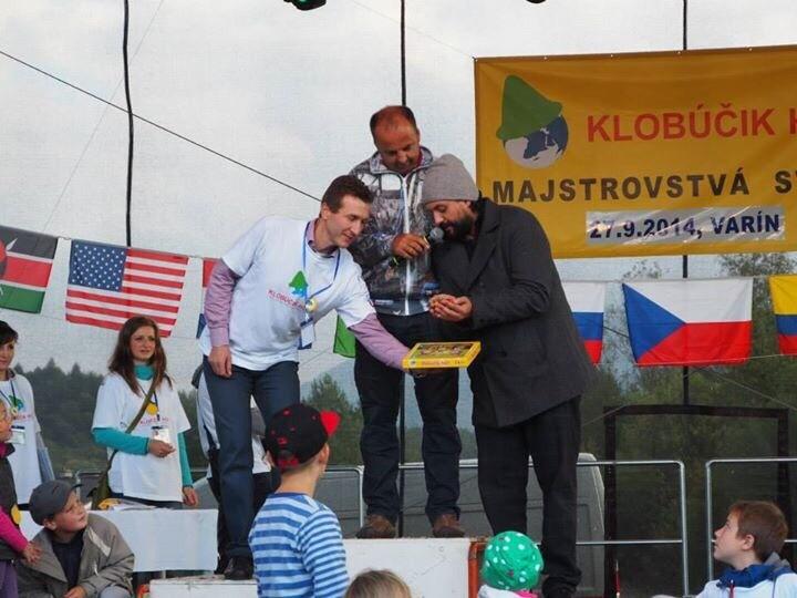 1.ročník Majstrovsta sveta Klobučik hop. Krstnym otcom je Marian Čekovsky. 27.september.2014. Varín.