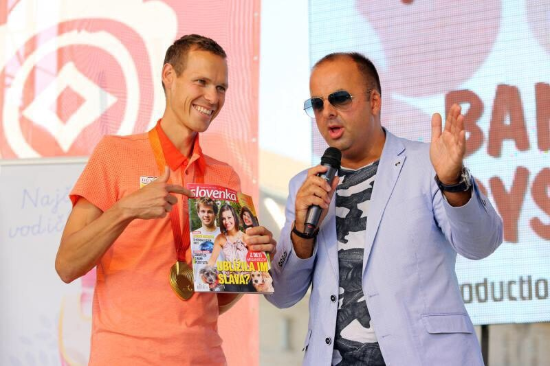 S Matejom Tothom - majstrom sveta v chodzi na 50 km. 12.septembra.2015.Banska Bystrica.