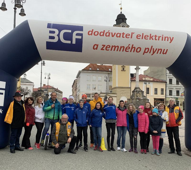 Svetovy tyzden glaukomu - Beh v tme za ucasti olympijskeho vitaza Mateja Totha. 13.marec 2019 Banska Bystrica