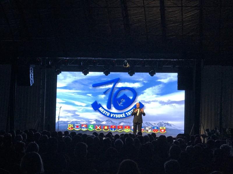 12.ročnik Tatransky galavečer pri priležitosti 70 vyročia založenia mesta Vysoke Tatry. 16.marec 2017. Tatranska Lomnica.