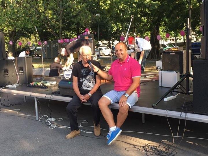 1.ročník Ruža Ružinova. Rozhovor s Františkom Glváčom, šlachtiteľom ruži. 2.júla 2017. Bratislava.