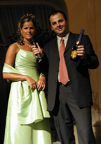S Veronikou Zuzulovou na vyhlásení ocenenia Zjazdár roka v Grandhoteli Praha v Tatranskej Lomnici.