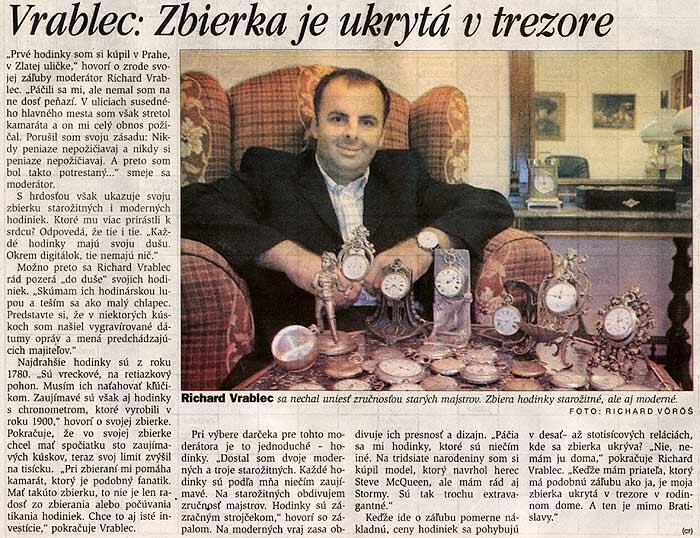 Pravda 20. Sept. 2003: Vrablec: Zbierka je ukrytá v trezore